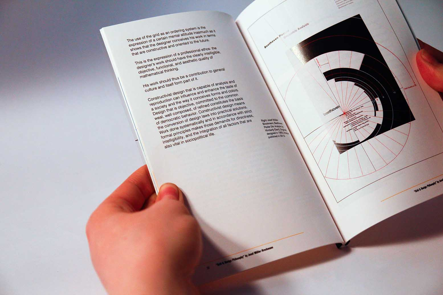 Image of one of the spreads, side view